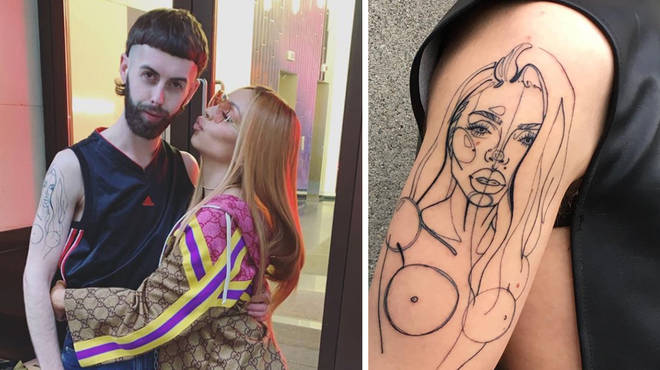 Jesy Nelson met up with super-fan Dillion who has her face and cleavage tattooed