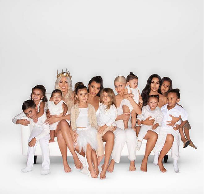 All of the Kardashian children as of 2018.