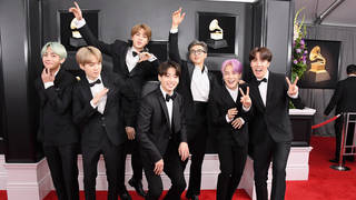 BTS made history as the first K-pop band to present a GRAMMY Award.