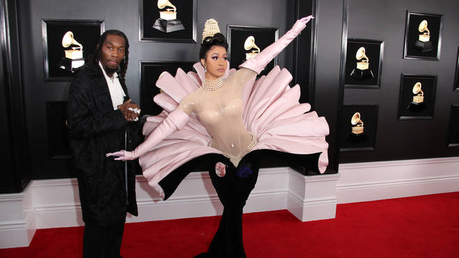 Cardi B attended the GRAMMYs with Offset