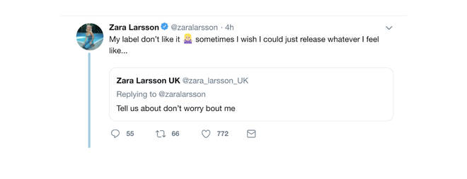 Zara Larsson responds to fans questioning about new song on Twitter