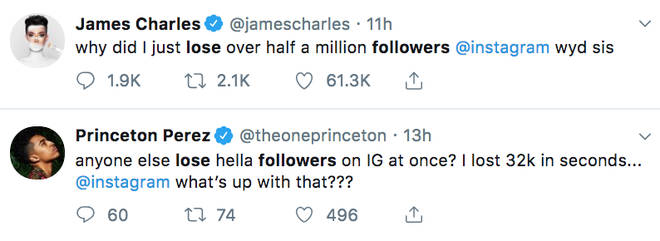 James Charles asks why he just lost half a million Instagram followers