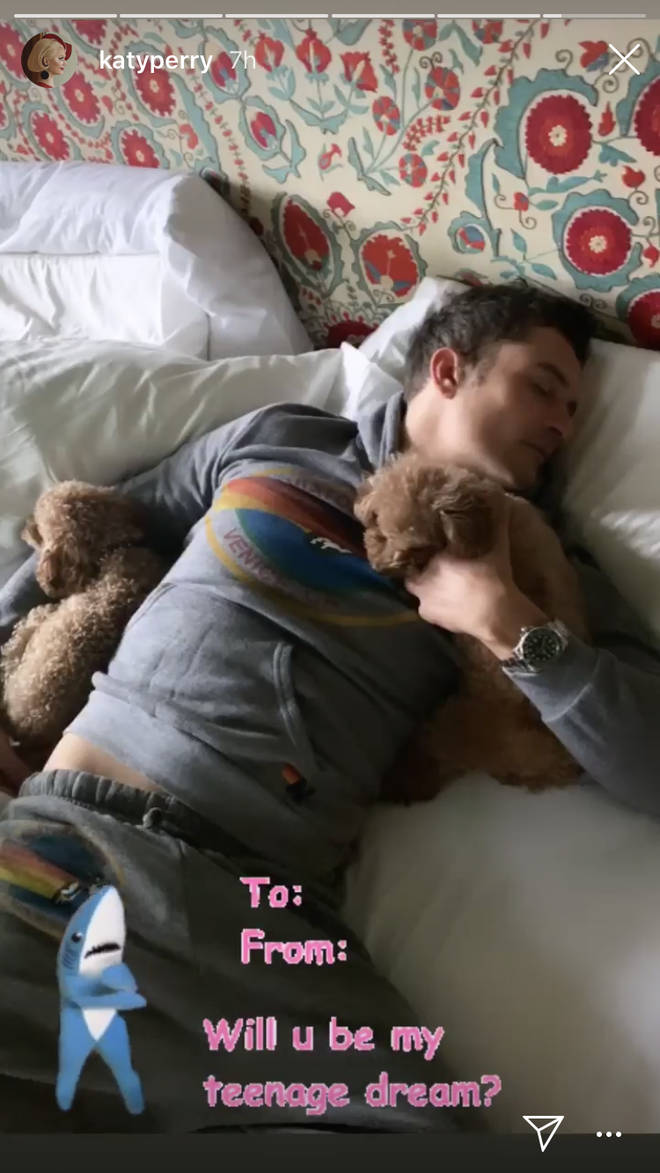 Katy Perry posted this cute snap of Orlando Bloom