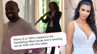 Twitter reacted to Kanye West surprising Kim Kardashian with Kenny G