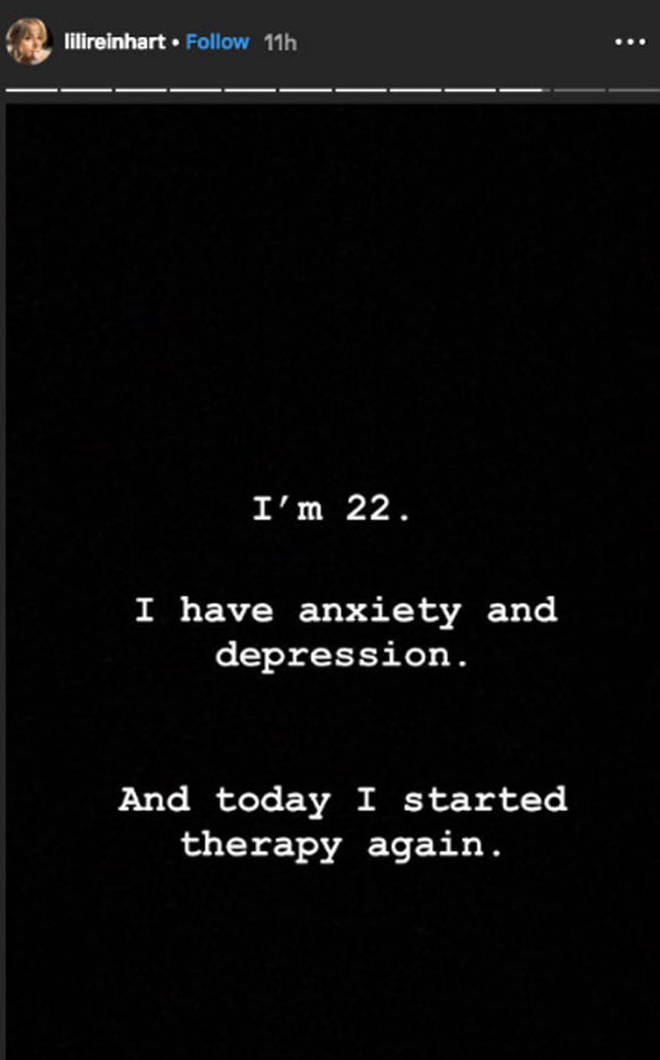 Lili Reinhart wrote about returning to therapy for anxiety