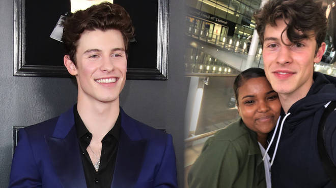 Shawn Mendes poses with fans in London days before the BRITs