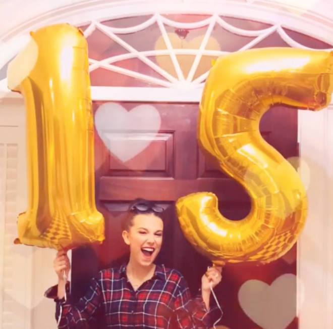 Millie Bobby Brown celebrated her 15th birthday