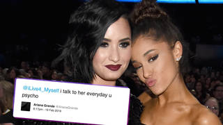 Ariana Grande responded to a troll who claimed she ignored Demi Lovato