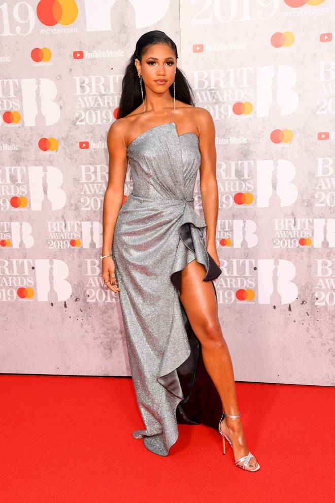Vick Hope stuns on the The BRITs 2019 red carpet