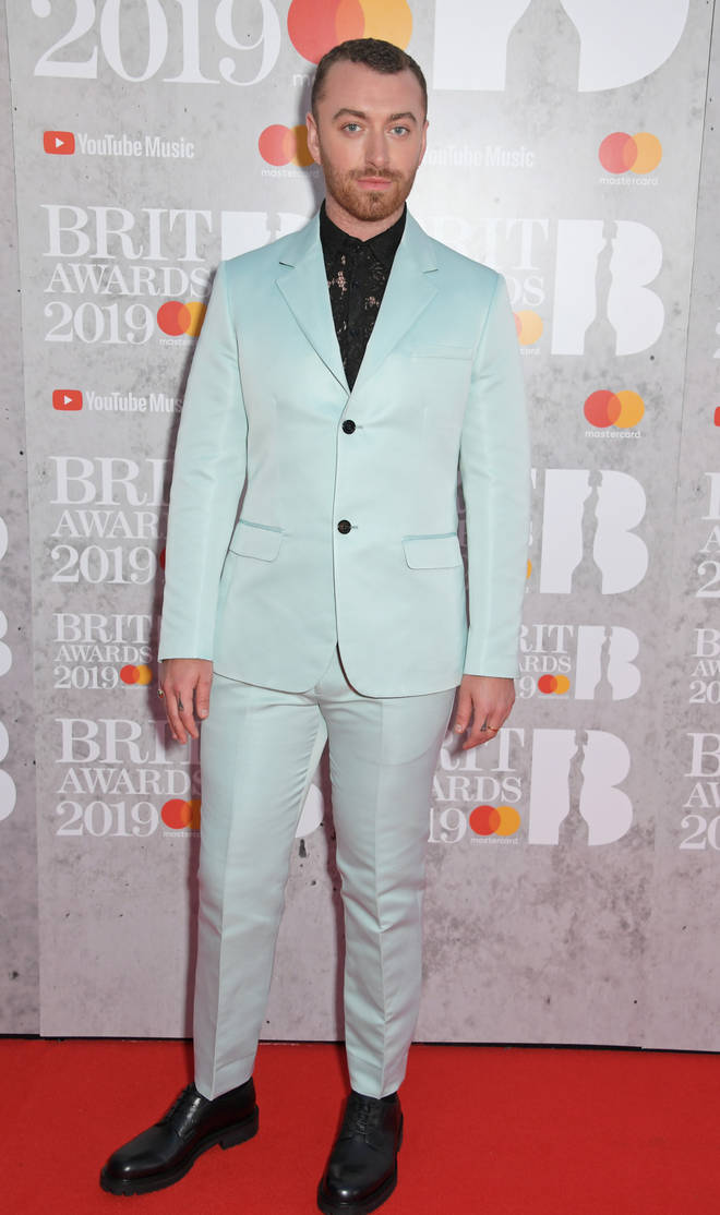 BRITs staple Sam Smith has taken to the 2019 red carpet