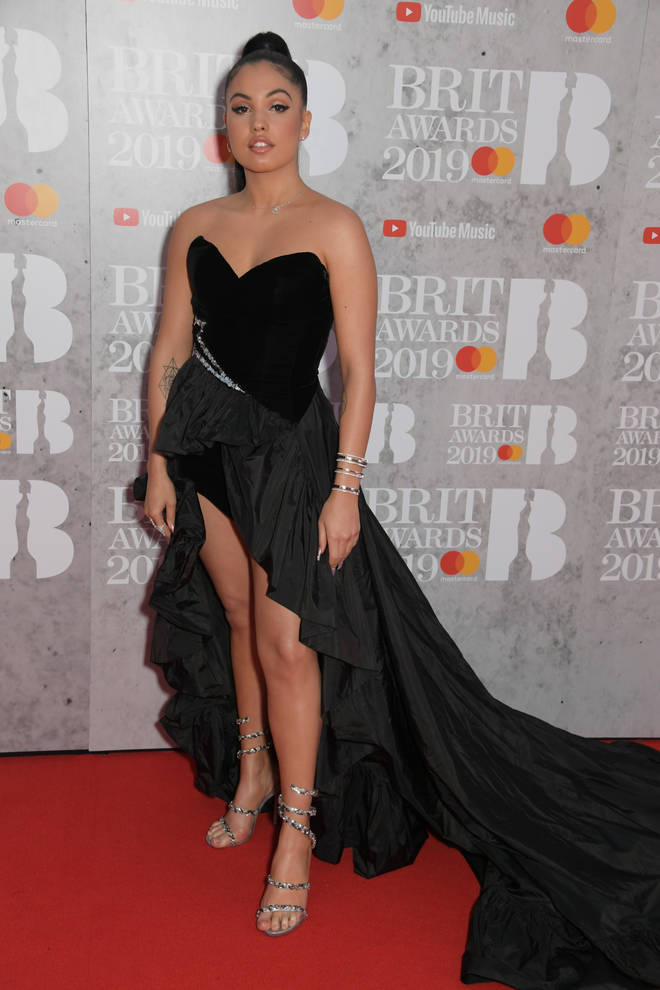 Mabel walks the BRITs 2019 red carpet