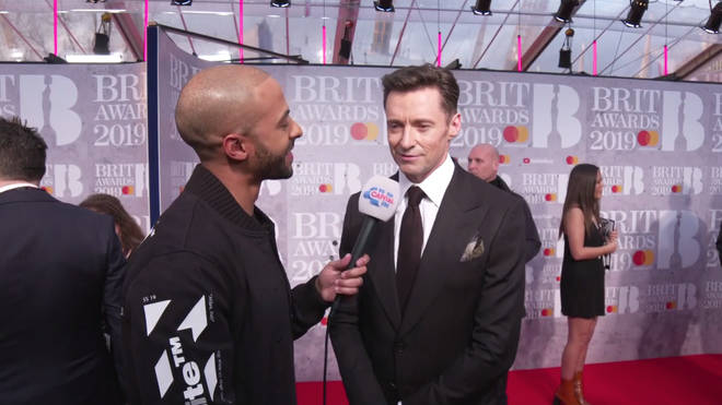 Hugh Jackman spoke to Capital's Marvin Humes on the red carpet of the BRITs