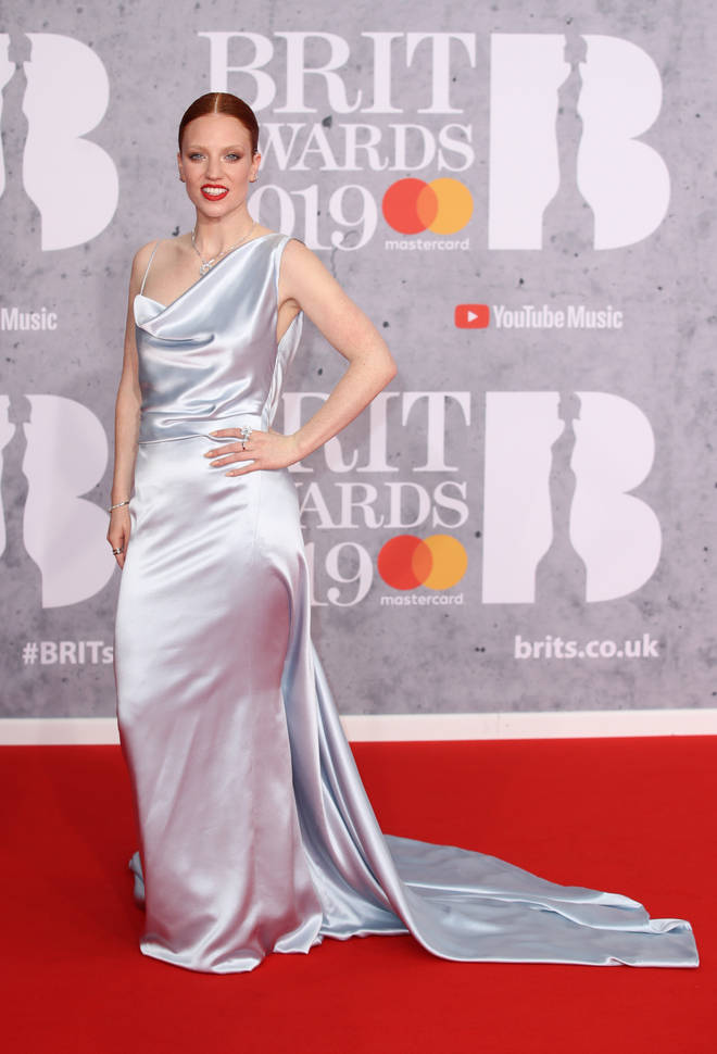 Jess Glynne has arrived at the 2019 BRITs and is walking the red carpet