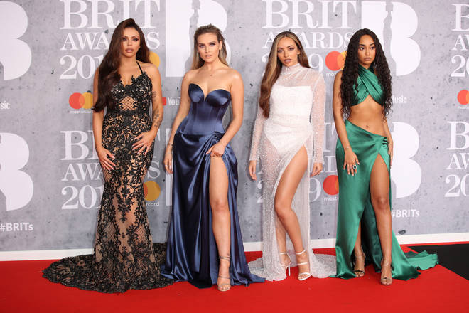 Little Mix's Perrie, Jade, Jesy & Leigh-Anne on the BRITs red carpet 2019