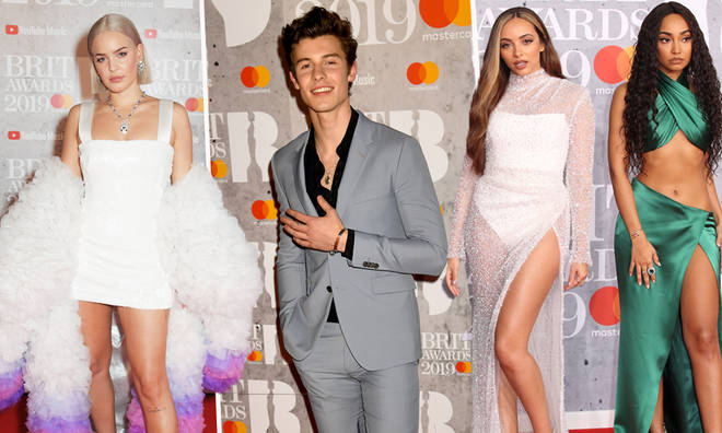 Shawn Mendes, Little Mix & Anne-Marie hit the BRITs red carpet