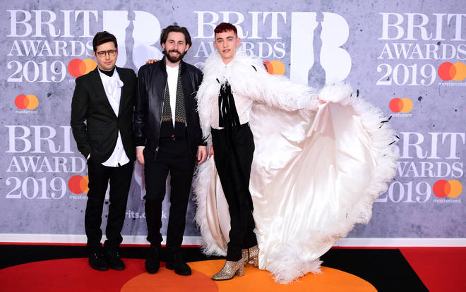 Years & Years turn out to the BRIT 2019 red carpet