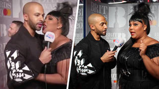 Lizzo licked Marvin Humes's face at the BRITs 2019!