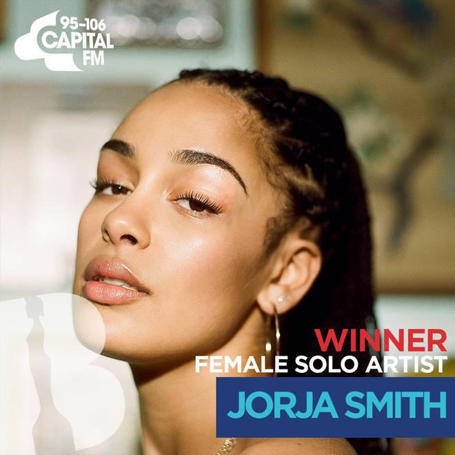 BRITs 2019 Female Solo Artist Winner - Jorja Smith