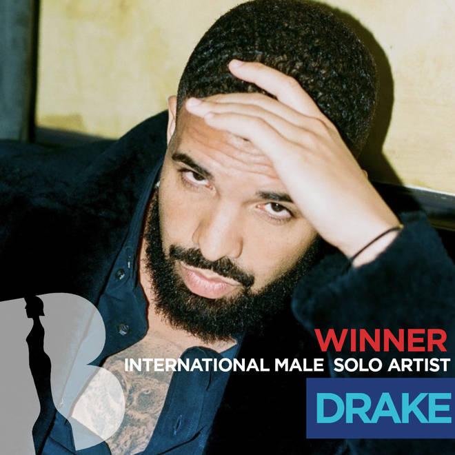 BRITs 2019 International Male Solo Artist winner - Drake