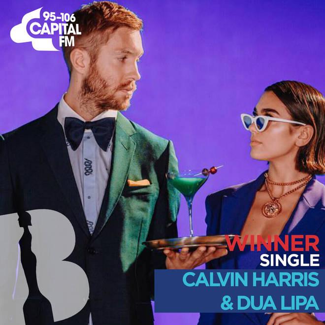 BRITs 2019 British Single winner - Calvin Harris & Dua Lipa 'One Kiss'