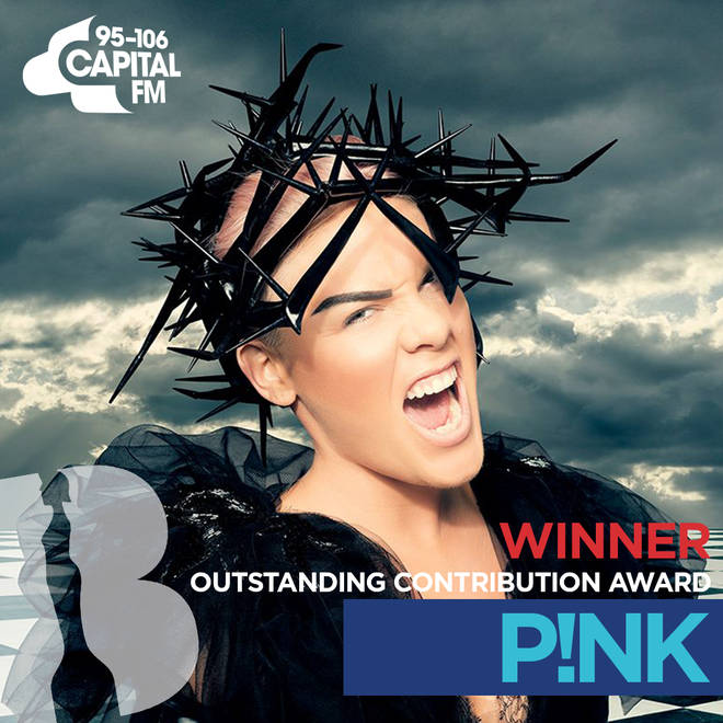 BRITs 2019 Outstanding Contribution Award winner - Pink
