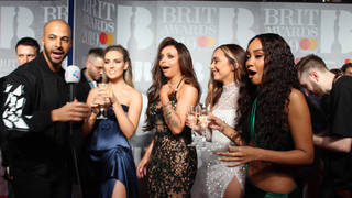 We pranked Little Mix with a GIANT glass of Champagne