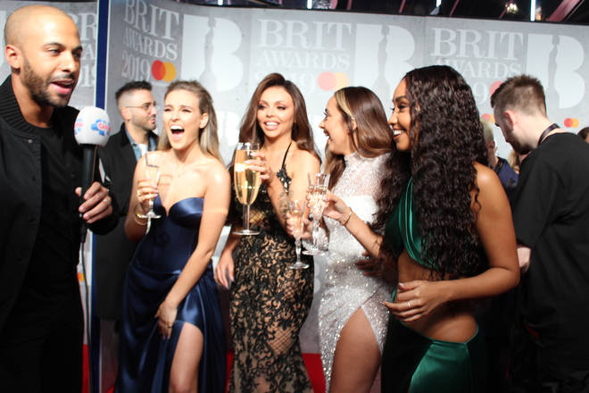 We think Jesy was happy with her Champers!