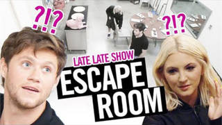 Niall Horan and Julia Michaels took part in the Late, Late Show Escape Room