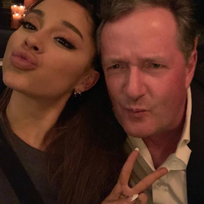 Piers Morgan met Ariana Grande, while in a LA restaurant