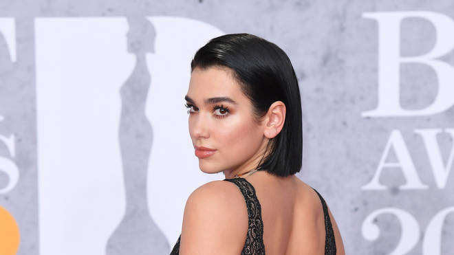 Dua Lipa celebrated winning the BRIT Award with Calvin Harris for their hit 'One Kiss'