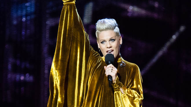 Pink was presented with the BRIT Award for Outstanding Contribution