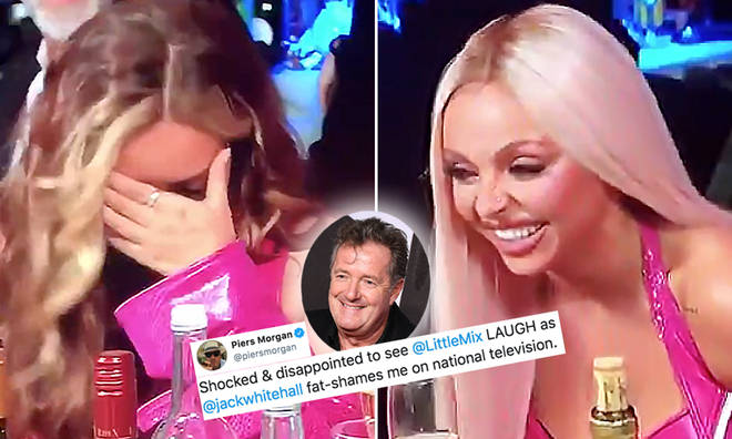 Piers Morgan slams Little Mix for 'fat shaming' him during the BRITs