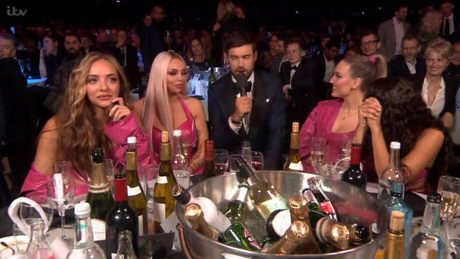 Little Mix look awkward as Jack Whitehall brings up Piers Morgan beef