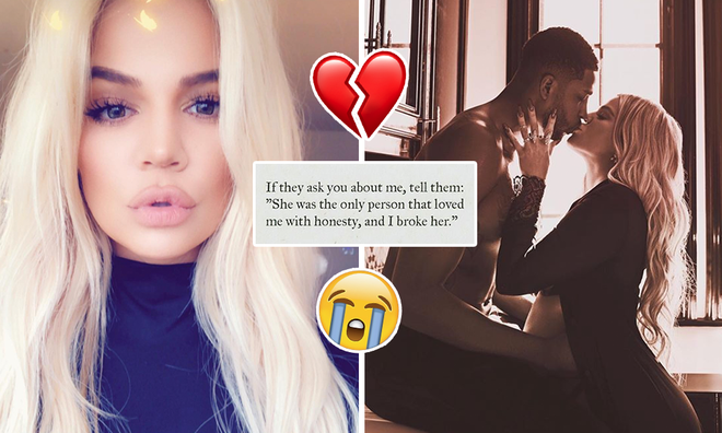Khloe Kardashian shared a series of messages on Instagram