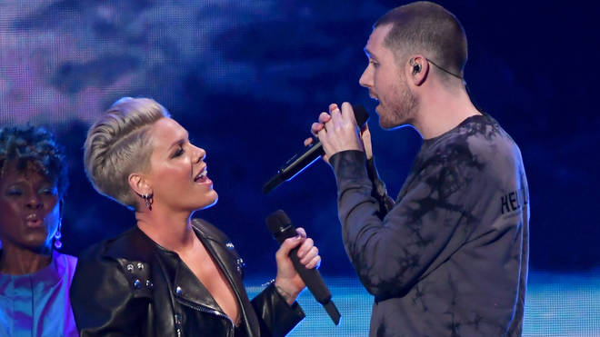 Bastille's Dan Smith performed with Pink at the 2019 BRITs
