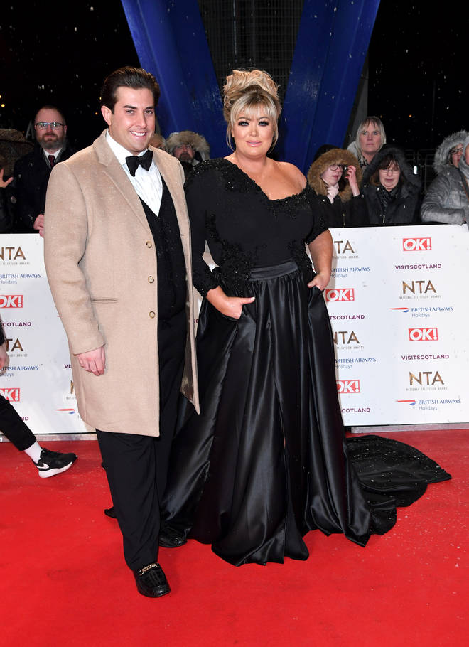 Gemma Collins and James Argent at the 2019 NTA's