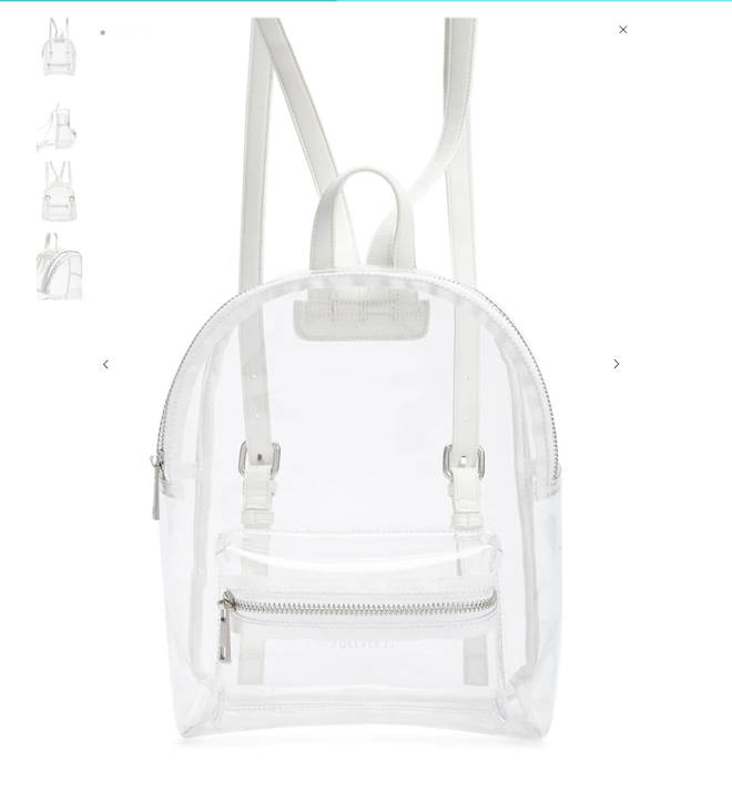 Clear rucksack from Forever 21