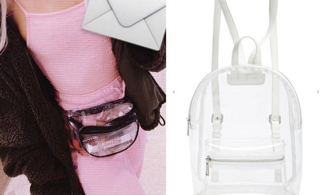 The best clear bags on a budget for Ariana Grande's Sweetener tour.