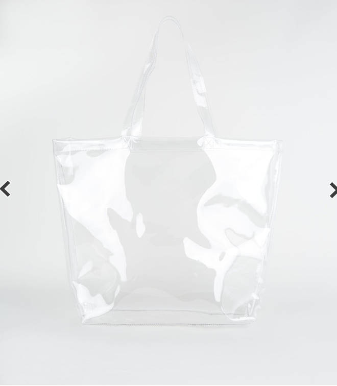New Look clear shopping tote