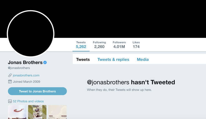 Jonas Brothers blacked out all of their social media accounts