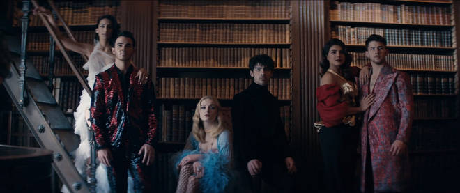 The Jonas Brothers and their partners star in new video for 'Sucker'