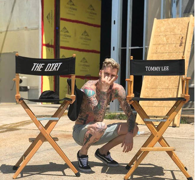 Machine Gun Kelly takes on the role of Tommy Lee in the Motley Crue biopic.