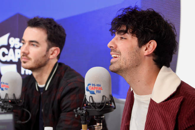 Joe and Kevin Jonas during their UK interview with Jimmy Hill