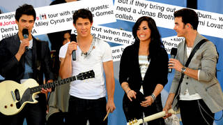 Fans are begging the Jonas Brothers to reunite with Demi Lovato
