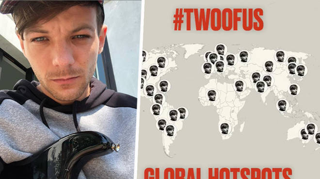 Louis Tomlinson has teased his new song in global hotspots around the world.