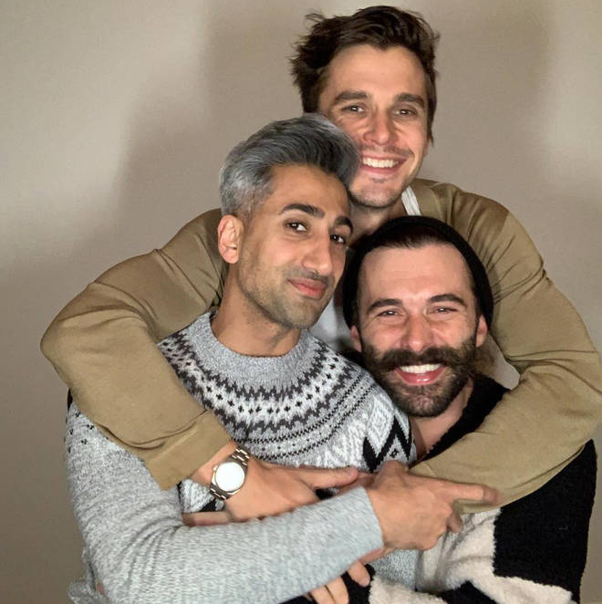 The Fab Five often post behind-the-scenes snaps from Queer Eye