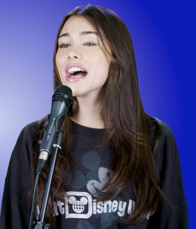 Madison Beer sings Ariana Grande and Justin Bieber songs