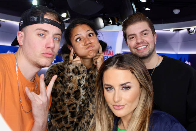 Amber Davies played DM Chicken on Capital Breakfast