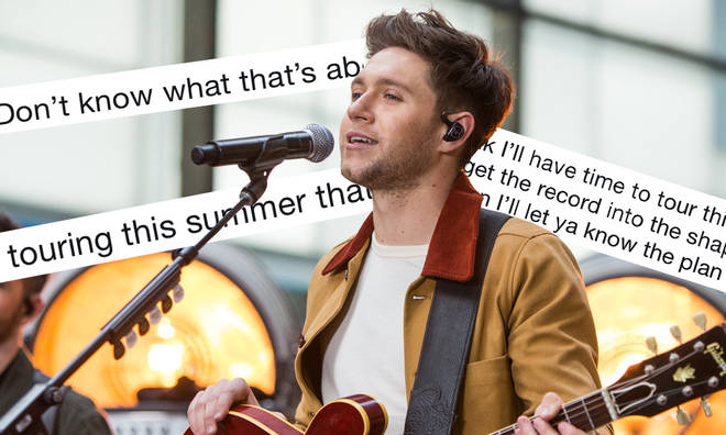 Niall Horan responded to speculation he's going on tour this year