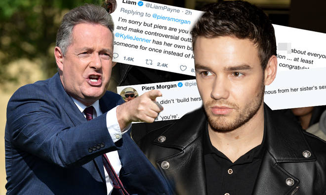 Piers Morgan and Liam Payne exchanged a vicious war of words on Twitter